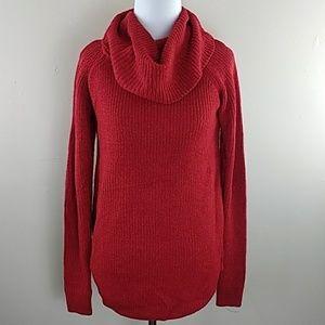 Women's BCX Sz S Red Shimmer Sweater
